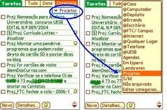 Listas de Próximas Ações  (Next Actions) e Projetos no pda [12]